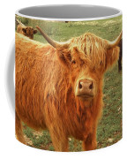 Scottish Highlander With Big Bangs Coffee Mug