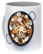 Seafood And Rice Paella Traditional Spanish Food Coffee Mug