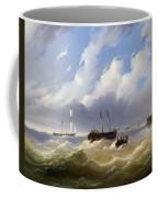 Ships On A Stormy Sea Coffee Mug