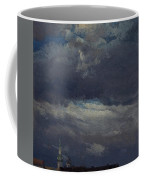 Stormclouds Over The Castle Tower In Dresden  Coffee Mug