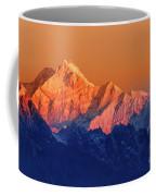 Sunrise On Mount Kanchenjugha At Dawn Sikkim Coffee Mug