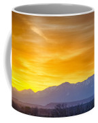 Sunrise Over Colorado Rocky Mountains Coffee Mug