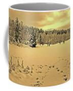 Sunset At Winter Lake Coffee Mug