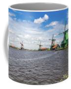 Traditional Dutch Windmills At Zaanse Schans, Amsterdam Coffee Mug