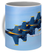 U S Navy Blue Angeles, Formation Flying, Smoke On Coffee Mug