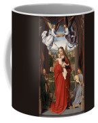 Virgin And Child With Four Angels Coffee Mug