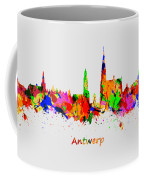 Watercolor Art Print Of The Skyline Of Antwerp In Belgium Coffee Mug