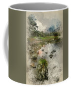 Watercolor Painting Of Beautiful Autumn Fall Landscape Image Of  Coffee Mug