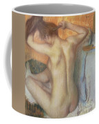 Woman Combing Her Hair Coffee Mug