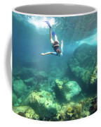 Woman Free Diving Coffee Mug