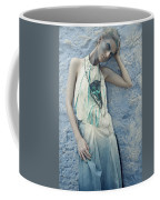 Woman In Ash And Blue Body Paint Coffee Mug