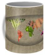 World Fruits Vegetables Map Coffee Mug