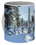 Amazing Landscape With Frozen Snow-covered Trees In Winter Morning  Coffee Mug