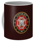 30th Degree - Knight Kadosh Jewel On Black Leather Coffee Mug