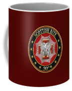 30th Degree - Knight Kadosh Jewel On Red Leather Coffee Mug