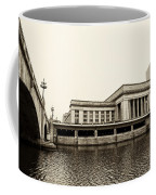 30th Street Station From The River Walk In Sepia Coffee Mug