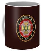 32nd Degree - Master Of The Royal Secret Jewel On Black Leather Coffee Mug