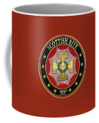32nd Degree - Master Of The Royal Secret Jewel On Red Leather Coffee Mug