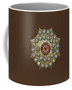 33 Scottish Rite Degrees On Red Leather Coffee Mug