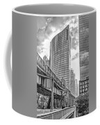 333 W Wacker Drive Black And White Coffee Mug