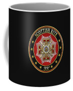 33rd Degree - Inspector General Jewel On Black Leather Coffee Mug