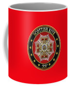 33rd Degree - Inspector General Jewel On Red Leather Coffee Mug