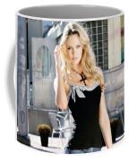 345337 Women Long Hair Lips Eyes Candice Swanepoel Coffee Mug
