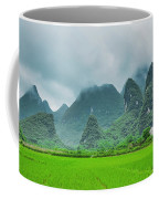 Karst Mountains Rural Scenery Coffee Mug