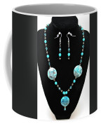 3508 Crazy Lace Agate Necklace And Earrings Coffee Mug