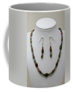 3525 Unakite Necklace And Earring Set Coffee Mug