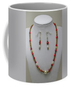 3539 Pearl Necklace And Earring Set Coffee Mug