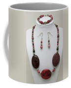 3544 Rhodonite Necklace Bracelet And Earring Set Coffee Mug