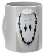 3555 Lapis Lazuli Necklace And Earring Set Coffee Mug