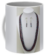 3562 Triple Strand Freshwater Pearl Necklace Set Coffee Mug