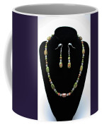 3565 Unakite Necklace And Earrings Set Coffee Mug