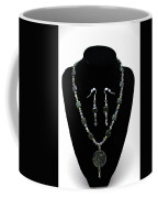 3576 Kambaba And Green Lace Jasper Necklace And Earrings Coffee Mug
