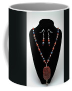 3578 Jasper And Agate Long Necklace And Earrings Set Coffee Mug