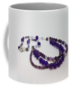 3580 Amethyst And Adventurine Necklace Coffee Mug