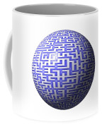 3d Maze Coffee Mug by Yali Shi