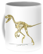3d Rendering Of A Velociraptor Dinosaur Coffee Mug by Leonello Calvetti