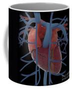 3d Rendering Of Human Heart Coffee Mug