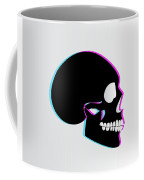 3d Skull Icon Background Side On Coffee Mug