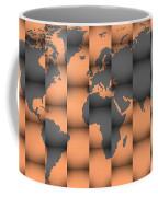 3d World Map Composition Coffee Mug
