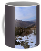 A Snowy Desert Mountain Scene Above Twin Lakes Along The Trail To Monument Ridge In The Eastern Sier Coffee Mug