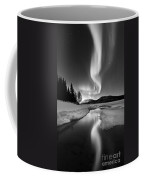 Aurora Borealis Over Sandvannet Lake Coffee Mug by Arild Heitmann