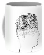 Brain Design By Cogs And Gears Coffee Mug