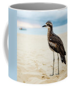 Bush Stone-curlew Resting On The Beach. Coffee Mug