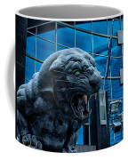 Carolina Panthers Statue Covered In Snow Coffee Mug