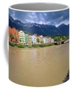 City Of Innsbruck Colorful Inn River Waterfront Panorama Coffee Mug