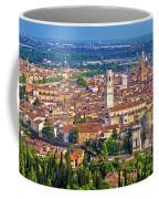 City Of Verona Old Center And Adige River Aerial Panoramic View Coffee Mug